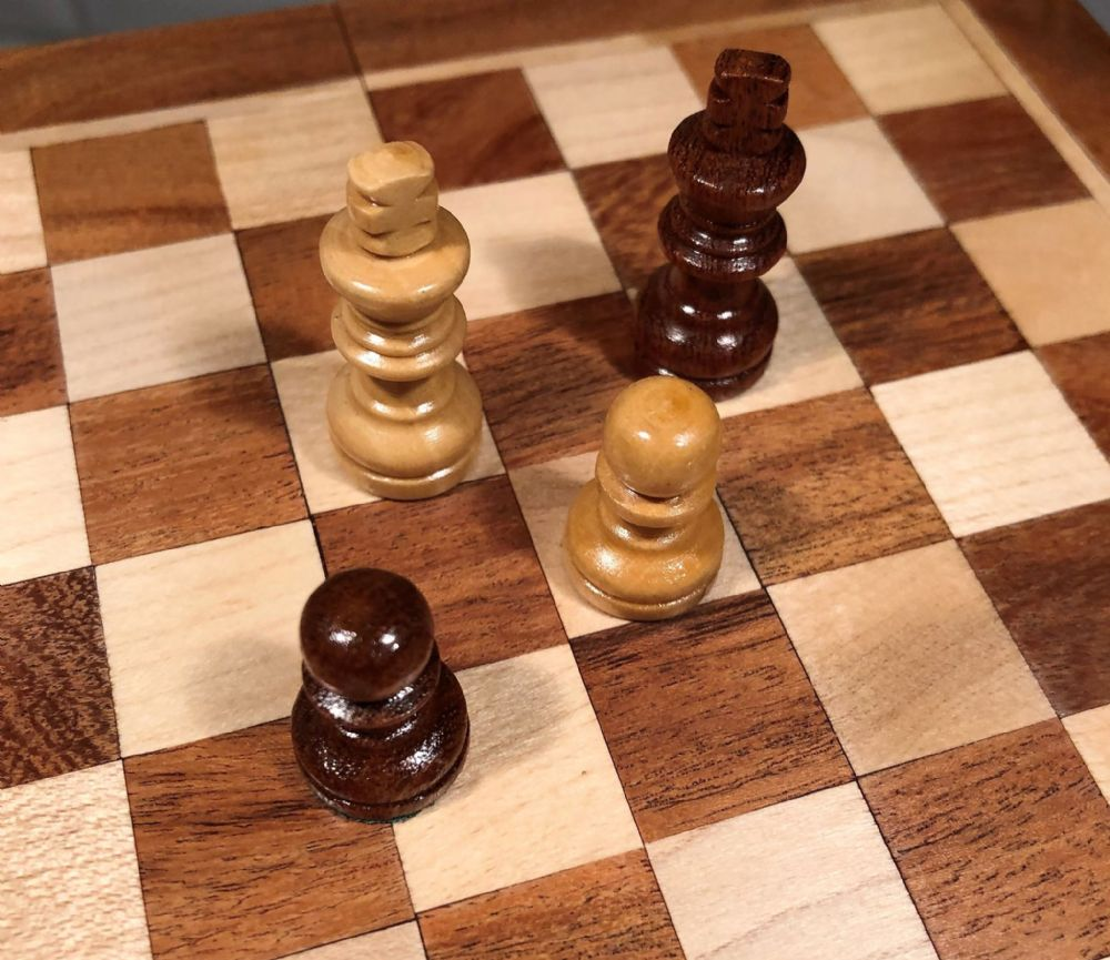 "Sheesham Rosewood Handcrafted 7"" Square Chess Set Board & Pieces"